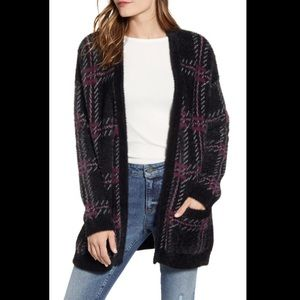NWT  1.State Plaid Eyelash Cardigan